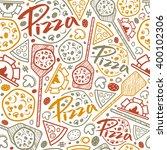 pizzeria seamless pattern.... | Shutterstock .eps vector #400102306