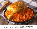 traditional arabic food  kabsa... | Shutterstock . vector #400107976