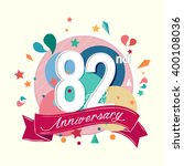 82nd anniversary with abstract...   Shutterstock .eps vector #400108036