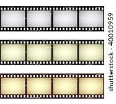 vector scratched seamless film... | Shutterstock .eps vector #40010959