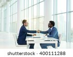 business people at meeting in... | Shutterstock . vector #400111288