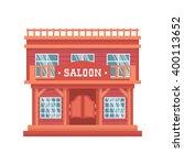 Western Saloon Doors. Isolated...