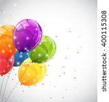 color glossy balloons...   Shutterstock . vector #400115308