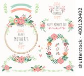 floral mother's day elements | Shutterstock .eps vector #400120402