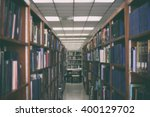 bookshelf in public library... | Shutterstock . vector #400129702