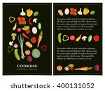 cookbook template hand drawn... | Shutterstock .eps vector #400131052