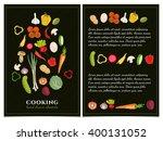 cookbook template hand drawn... | Shutterstock .eps vector #400131052