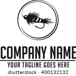 fly fishing logo. vector and... | Shutterstock .eps vector #400132132