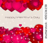 st valentines day greeting card ... | Shutterstock . vector #400136158