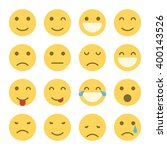 emoji faces icons. set of... | Shutterstock .eps vector #400143526