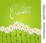 colored happy easter spring... | Shutterstock . vector #400150582