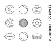 gray icons of various sports... | Shutterstock .eps vector #400169686