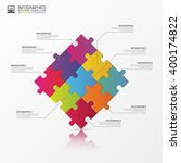 puzzle piece infographics... | Shutterstock .eps vector #400174822