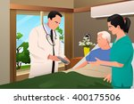 a vector illustration of doctor ... | Shutterstock .eps vector #400175506