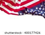 american flag border isolated... | Shutterstock . vector #400177426