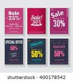 set of simple bright sale flyer ... | Shutterstock .eps vector #400178542