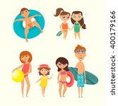 summer vacation. vector... | Shutterstock .eps vector #400179166