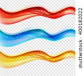 abstract colored wave set on... | Shutterstock . vector #400182022