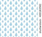 seamless raindrops pattern on... | Shutterstock . vector #400183582