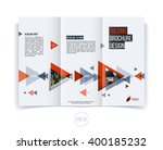 vector abstract brochure flyer... | Shutterstock .eps vector #400185232