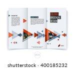 vector abstract brochure flyer... | Shutterstock .eps vector #400185232