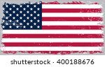 american flag with grunge... | Shutterstock .eps vector #400188676