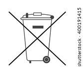 no trash bin icon. crossed... | Shutterstock .eps vector #400191415