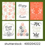collection of vector flat hand... | Shutterstock .eps vector #400204222