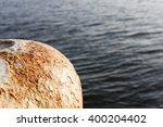 Closeup Of A Rusted Iron Ship...