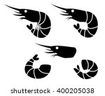 shrimp and prawn icons  vector... | Shutterstock .eps vector #400205038