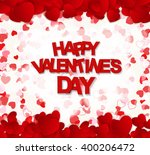 happy valentines day card.... | Shutterstock . vector #400206472