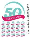 template logo anniversary set... | Shutterstock . vector #400206496