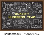 hand drawn business icons about ... | Shutterstock .eps vector #400206712