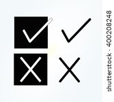 vector check mark icons. flat...