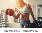 illustration fitness woman... | Shutterstock . vector #400209796