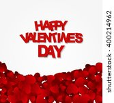 happy valentines day card with... | Shutterstock . vector #400214962