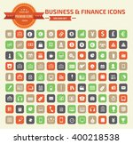 business and finance icon set... | Shutterstock .eps vector #400218538