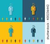 stick figure of a man | Shutterstock .eps vector #400236442