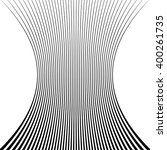 lines with squeezed deformation ... | Shutterstock .eps vector #400261735