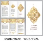 ornate vintage booklet with... | Shutterstock .eps vector #400271926