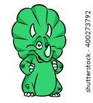 Triceratops Dinosaur Green...