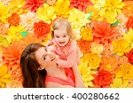 daughter at the hands of the... | Shutterstock . vector #400280662