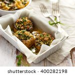 stuffed mushrooms in a... | Shutterstock . vector #400282198