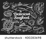 Delicious Seafood. Hand Drawn...