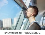 portait of young fitness model... | Shutterstock . vector #400286872