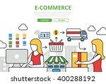 e commerce online shopping sale ... | Shutterstock .eps vector #400288192