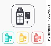 credit card payment  magnetic...   Shutterstock .eps vector #400290775