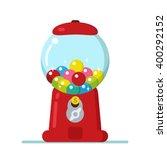 vector gumball machine... | Shutterstock .eps vector #400292152