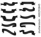 ribbon banners. set of ten... | Shutterstock .eps vector #400292845