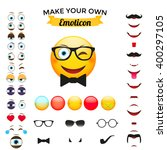 make your own emoticon.... | Shutterstock .eps vector #400297105